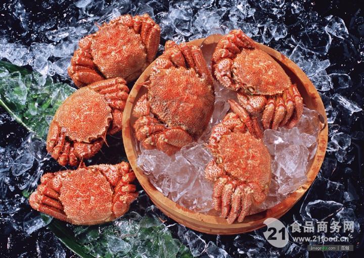 熟冻整只毛蟹 进口毛蟹