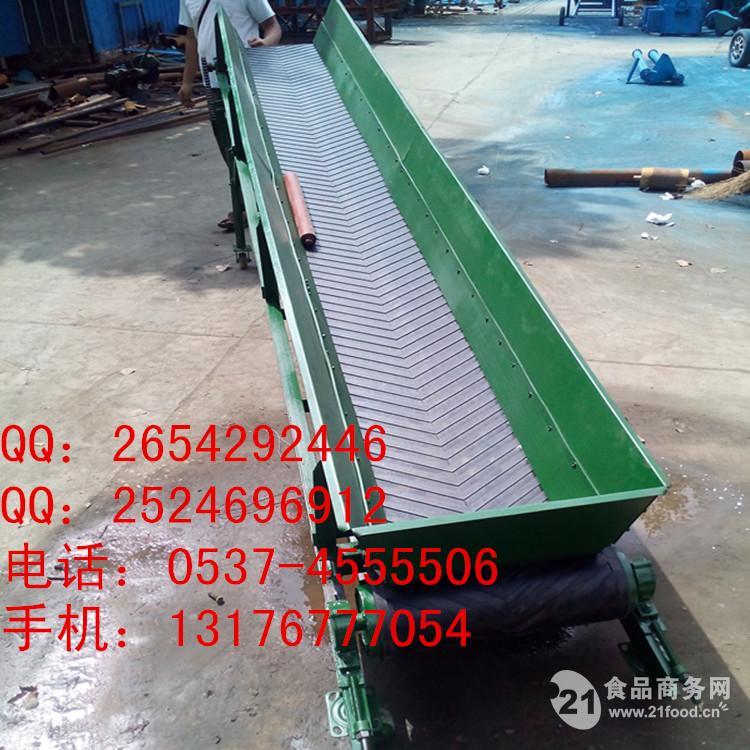 装卸爬坡皮带输送机  低价皮带机,
