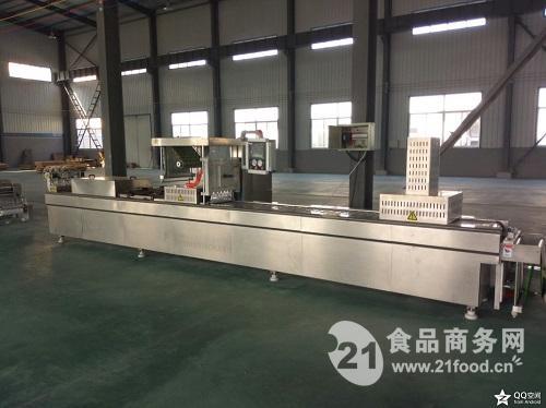 厂家*小康牌DLZ-420D型牛肉全自动连续拉伸膜真空包装机