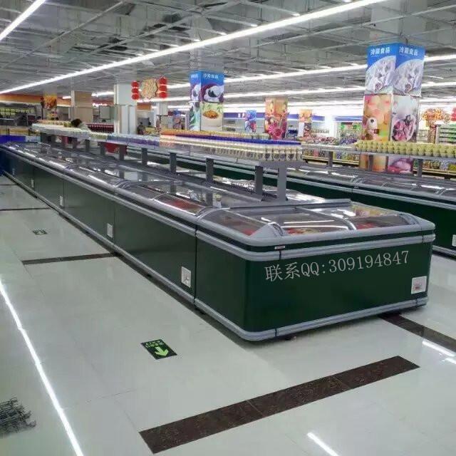 海尔超市冷柜岛柜保鲜柜厂家直销