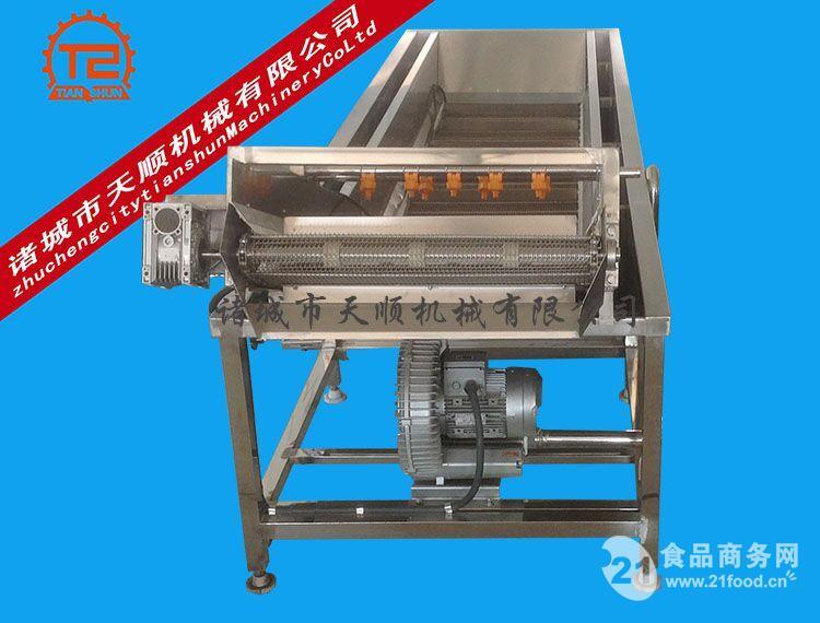 小白菜高压气泡清洗机(净菜加工成套设备)