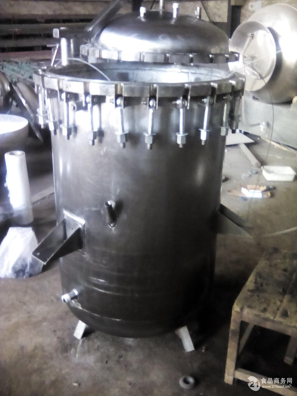 酱驴肉杀菌锅,烧煤立式灭菌锅碳钢灭菌锅