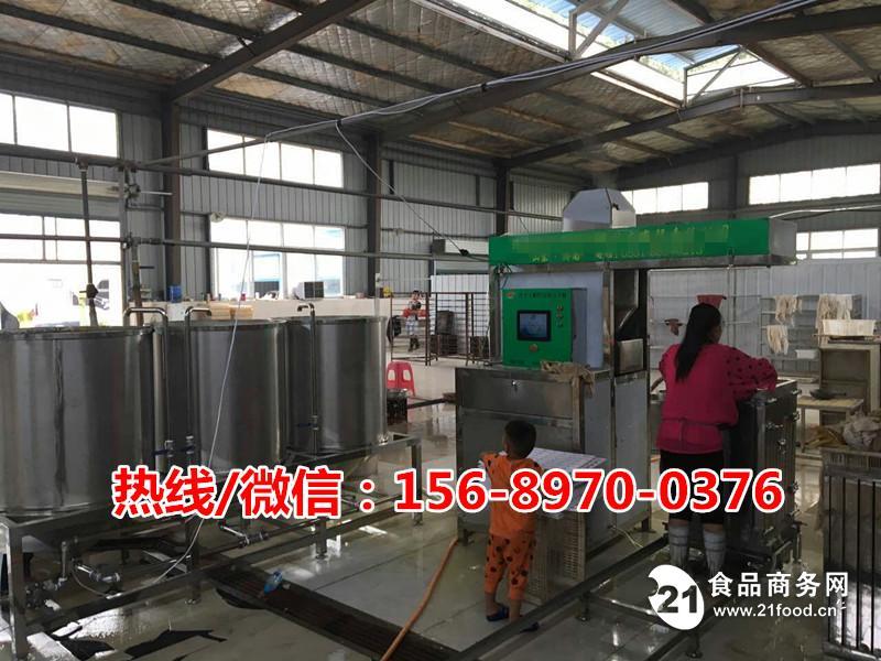 加工豆腐皮的机器生产视频,多功能豆腐干机生产线设备多少钱?