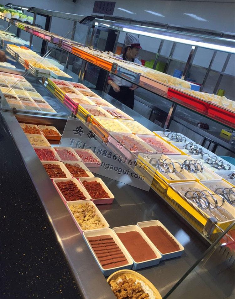 川西坝子冷柜,火锅菜品自选柜,自助餐明档展示柜