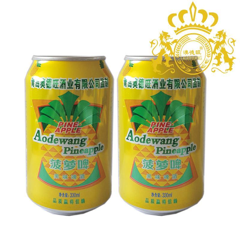 330ml澳德旺菠萝啤果啤批发价格 山东青岛 澳德旺