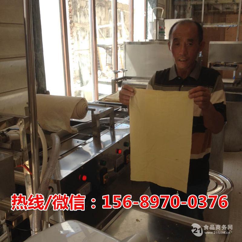 全自动小型豆腐皮机多少钱一台?全自动素鸡加工机器厂家