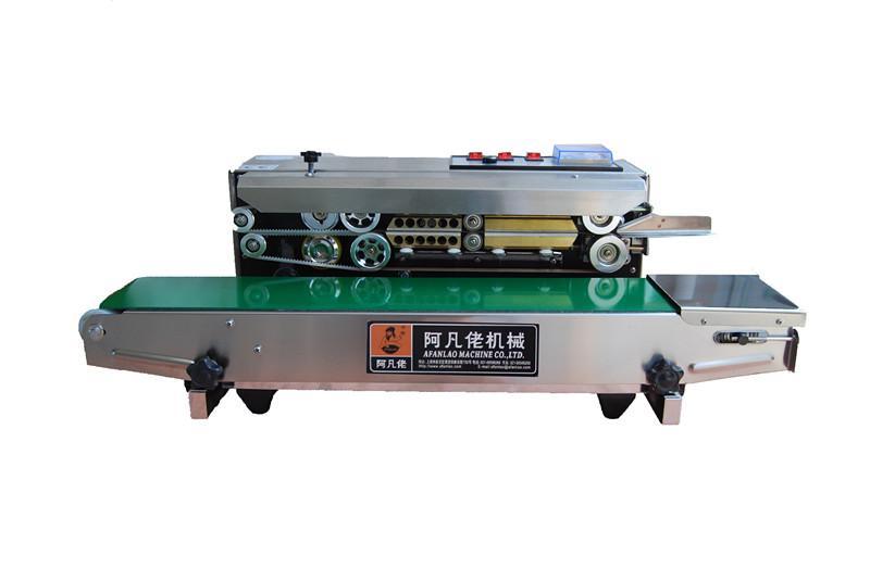 不锈钢卧式薄膜钢印封口机