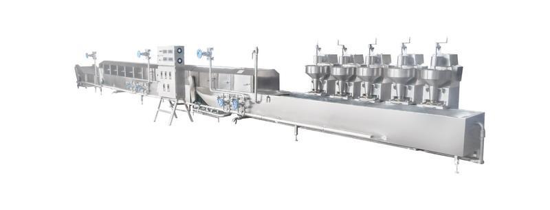 诸城瑞恒机械CX-5丸子蒸煮生产流水线