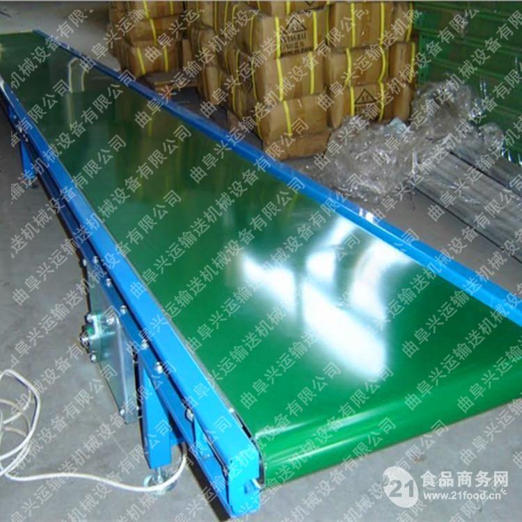 食品爬坡输送机 纸箱装卸皮带机M5