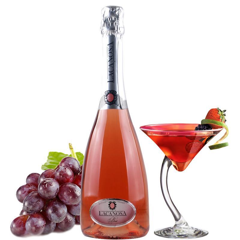 进口红酒起泡酒桃红高气泡酒葡萄酒