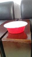 一次性双色喜庆餐具/红白双色碗杯套装