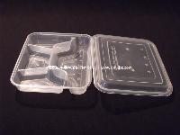 s88 透明 注塑四格 分餐盒 多格 一次性 打包 外卖 食品盒