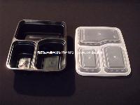 6888 三格  一次性饭盒 便当盒 外卖打包盒 环保 加厚 快餐盒