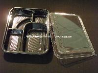 T306 一次性 黑色 五格 多格餐盒 外卖盒 便当盒