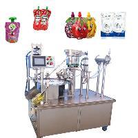 自立袋灌装封口机 气动式自立袋灌装旋盖机