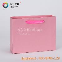 浙江厂家创意定做 秋季 优质粉红彩卡手提袋 2015年爆款纸袋