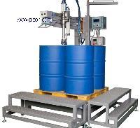 4*200升摇臂式称重灌装机 半自动液体灌装机