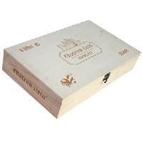 柏富森出品ml01梅洛红酒六枝装木箱酒盒