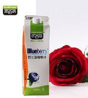 蓝百蓓野生蓝莓果汁饮料1L(中国 黑龙江大兴安岭)