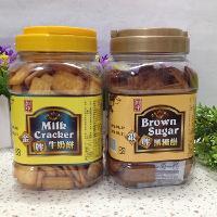 热销台湾休闲饼干馔宇金砖金牌牛奶饼、银牌黑糖饼 罐装