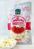 比然草莓奶贝 250克奶片 水果味补钙奶零食