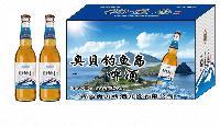 330毫升奥贝钓鱼岛小支啤酒