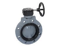 CPVC对夹涡轮式塑料蝶阀D371X-10V