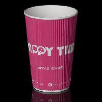 厂家直销 一次性咖啡纸杯 双层横瓦楞杯 中空咖啡杯 双层纸杯订制