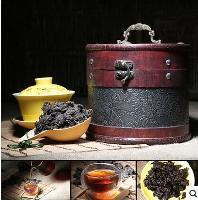 普洱老茶头云南茶叶熟茶程健500克装送皮桶