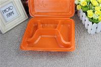 鑫泰一次性连体四格快餐盒,采用环保塑料PP材质