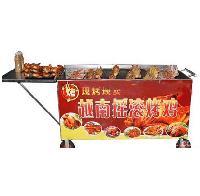 木碳旋转烤鸡炉|流动烤鸡车