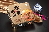 2015华美月饼团购批发价格-2015款时尚双黄