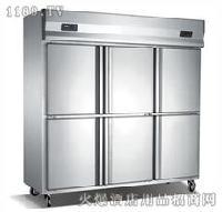 高端不锈钢六门双温双机冰柜的价格