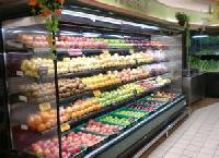 高档旋转餐厅用风冷的蔬菜冷柜价格