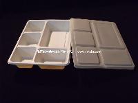 一次性  外卖分餐盒 高档饭盒 五格餐盒