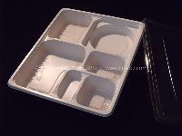 N03 一次性餐具 六格餐盒 高档商务餐盒