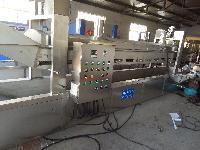 HB全自动网带式油炸流水线  老鲁专业制造