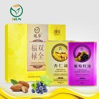 鲲华 葡萄籽油+杏仁油 1000ml*2瓶 礼盒装