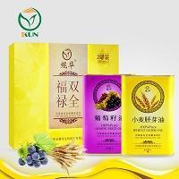 鲲华 葡萄籽油+小麦胚芽油 1000ml*2瓶 礼盒装