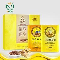 鲲华 亚麻籽油+小麦胚芽油 1000ml*2瓶 礼盒装