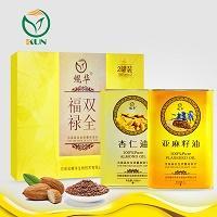 鲲华 杏仁油+小麦胚芽油 1000ml*2瓶 礼盒装