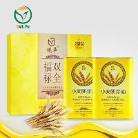 鲲华 小麦胚芽油+小麦胚芽油 1000ml*2瓶 礼盒装