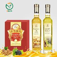 鲲华 核桃油+葡萄籽油 500ml*2瓶 礼盒装