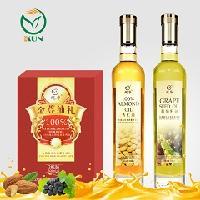 鲲华 葡萄籽油+杏仁油 500ml*2瓶 礼盒装