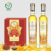 鲲华 亚麻籽油+小麦胚芽油 500ml*2瓶 礼盒装