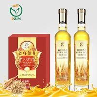 鲲华 小麦胚芽油+小麦胚芽油 500ml*2瓶 礼盒装