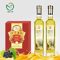 鲲华 葡萄籽油+葡萄籽油 500ml*2瓶 礼盒装