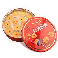 广州酒家集团利口福曲奇红罐500g,老字号,条码:6902230154581