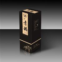 黑色酒盒包装盒定做 免费设计logo 白卡纸彩印