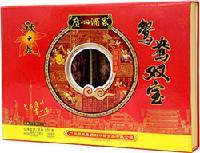 秋之风鸳鸯双宝腊味礼盒,广州酒家老字号